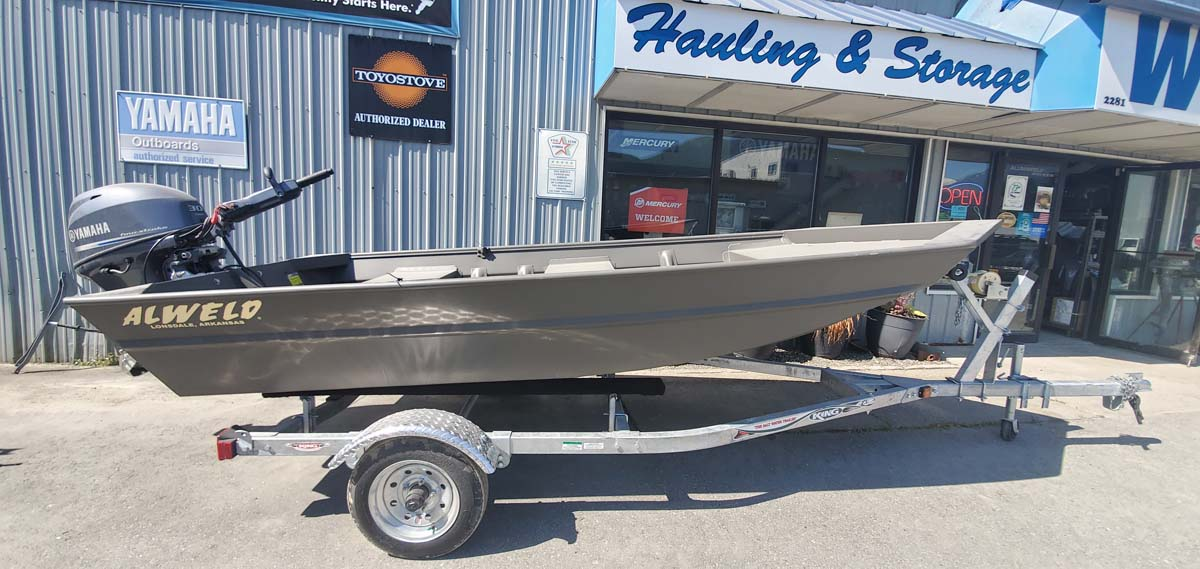 New Alweld 1448 Aluminum Jon River Boat With Yamaha 30hp Jet